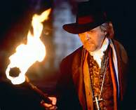 Anthony Hopkins as Van Helsing in the 1992 movie, Bram Stoker's Dracula, which of all vampire movies most parallels the book's storyline and plot.