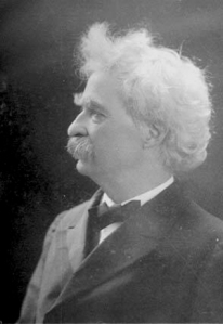 """Mark Twain: """"A lie can travel half way around the world while the truth is putting on its shoes."""""""