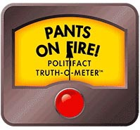 PolitiFact and the related PunditFact use a Truth-o-Meter to rank news information from true, mostly true, half true, and pants of fire (not true).