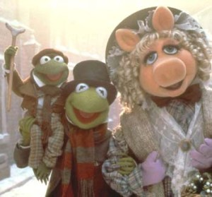 The 1992 Muppets Christmas Carol movie.