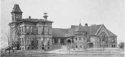 Old Main in 1891. From Colorado State University Archives and Special Collections